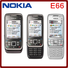 Original Nokia E66 Unlocked 3G Mobile Phone WIFI GPS Bluetooth Russian Keyboard Slider Phone in stock(China)