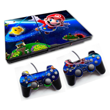 Mario For PS2 Vinyl Skin For Sony Playstation 2 Console Cover Sticker For PlayStation2 Controller Controle Gamepad Mando Decal(China)