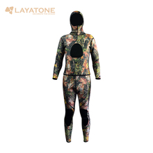 camouflage wetsuit for spearfishing,3mm neoprene two-piece scuba diving wetsuit for men full body WS-01(China)