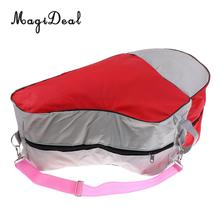 MagiDeal Portable Large-capacity Inline Roller Skating Boots Bag Ice Skating Bag Hockey Skate Shoulder Bag Equipment Bag Red(China)