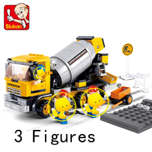 Compatible With Lego 296 Pcs Building Blocks Cement Mixers Ruban Bricks To Project Fancy With Action Figure Bricks For Kid City(China)