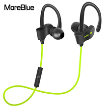 MoreBlue M56 Wireless Bluetooth Earphones Sport Running Headphones HIFI Stereo Super Bass Headset Earbuds Handsfree With Mic(China)