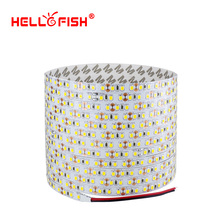 Hello Fish 5m Double layer PCB 600 LED Strip Light, 2835 SMD 12V Flexible LED Tape, White/Warm White/Blue/Green/Red(China)