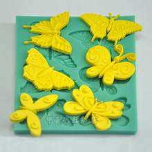 1pcs Butterfly Silicone Soap Mold Fondant Cake Decor Tool Bakery Paste Chocolate Cupcake Pastry Shop Mould reposteria Patisserie
