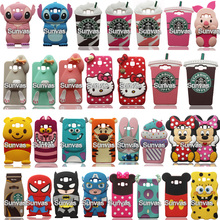 3D Cartoon Minnie Mickey Batman Stitch Silicone Back Cover Shell For Samsung Galaxy J1 J3 J5 J7 A5 A7 Phone Cases Fundas Coque