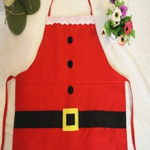 Useful  Red Christmas Accessories Decoration Household Party Supplies Kitchen Bar Adult Apron