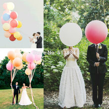 High Quality Gaint 36 Inches Balloon Ball Inflatable Big 36'' Latex Balloons For Wedding Birthday Party Decorations Favors