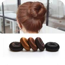 Hair Donut Bun Ring Shaper Roller Styler Maker Brown Black Blonde Hairdressing Synthetic Fiber Extension Wig Hair Accessories T1(China)