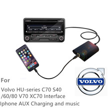 For Volvo HU-series C70 S40/60/80 V70 XC70  Car CD Change MP3 Music Adapter Charge For Iphone7 6 6s 5 5s ipod CD Quality