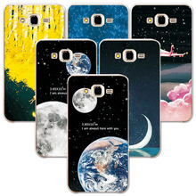 "FOR Samsung J3 2016 Couple Style Phone Case Space Stars Fantasy Art Print For Samsung Galaxy J3 Case J320 J320F 5.0"" Back Cover(China)"