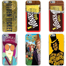 342GG Willy Wonka Golden Ticket Charlie Hard Transparent Cover Case for iphone 4 4s 5 5s se 6 6s 8 plus 7 7 Plus X(China)