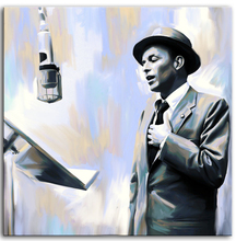 "TOP HANDPAINT art work # oil painting #America FRANK SINATRA - 24"" INCHES -free shipping cost"