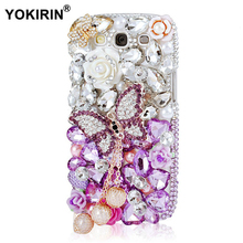 YOKIRIN Unique Luxury Diamond Bling Crystal Hard Plastic Transparent Rhinestone Cover Case for Samsung Galaxy S3 i9300(China)