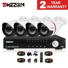 Tmezon AHD 4CH 2MP 1080P CCTV Security System 4pcs Day Night Waterproof IR Camera Alarm Systems Security Home Diy 1TB 2TB Kit
