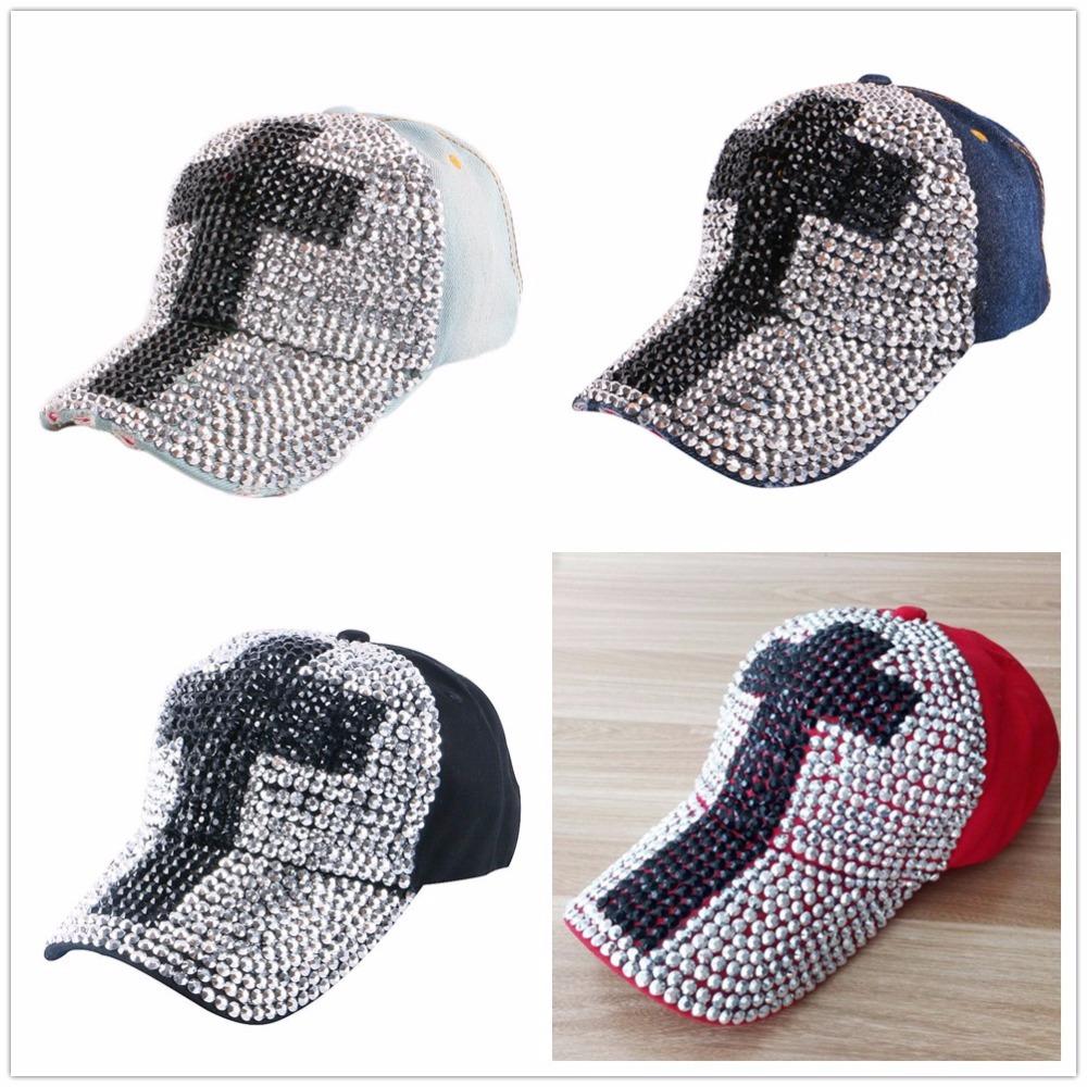 High Quality WOMEN brand baseball cap new fashion rhinestone crystal denim snapback caps wholesale woman hip hop snapbacks hats 13