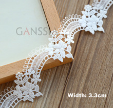 3yrd/lot Width:3.3cm Stylish floret design water soluble Lace trimming lace Garment accessories Scrapbooking (ss-4789)