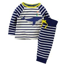 Boys Clothing Set Children's Sports Suits Kids Fashion 2017 Brand Autumn Baby Boy Clothes Animal Applique Tops+Pants Outfits(China)