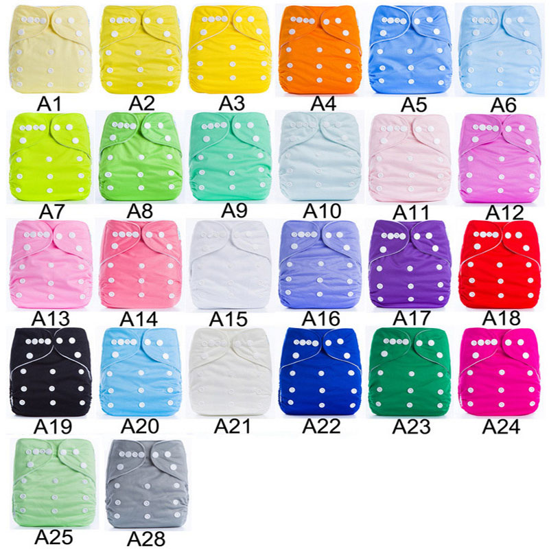 Ananbaby 10pcs/lot Breathable Cloth Diapers Solid Color Baby Nappy Reusable Baby Diaper One Size 0-3 Years Kawaii Nappies<br><br>Aliexpress