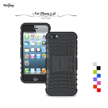 Wolfsay For Case iPhone 5s Cover Heavy Duty Armor Shockproof Rubber Phone Cover For iPhone 5s Case For iPhone 5 Case Fundas*<