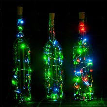 10Pcs/lot Battery Operated 2M 20 LED Cork Shape Wine Bottle String Lights For Bottle DIY,Christmas Halloween Wedding Party
