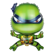 QGQYGAVJ Ninja Turtles Foil Balloons TMNT Globos Party Helium Balloon Gift For Birthday Inflatable Air Ballons