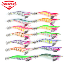 8pc Fishing Lure PROBEROS Squid Jigs Exported to Usa Market Fishing Tackle 14 color 19g/13.5cm Fishing Bait 3.5# Hook(China)
