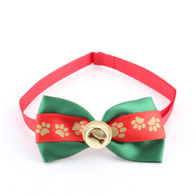 2Pcs Dog Bowties Pet Ties For Wedding Party Christmas Festival Adjustable Cute Dog Bow Tie Collar With Bell