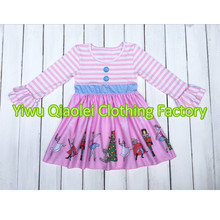 Hot sale Wholesale Christmas angel girl dress girls high quality boutique baby girl cotton dress