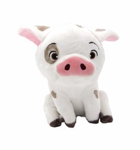 2017 Hot 22cm  Cute Infant Big Kawaii Moana Pet Sitting Pig Pua Plush Animal Toys Lovely Pig For Kids Birthday Christmas Gift
