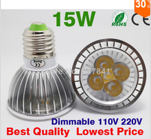 Par20 Led Lamp E27 E14 GU10 Dimmable 5x3W 15W Spotlight Led Light Led Bulbs 85V-265V 110V 220V