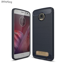 For Motorola MOTO Z2 Play Cases Cover Carbon Fiber Texture Brushed Soft Silicone TPU Back Cover For MOTO Z2 play 5.5inch