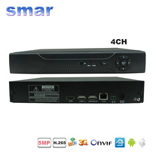 XMEYE Cloud 3G WIFI H.265 Network DVR 4 Channel 5MP CCTV NVR System For H.265 H.264 5MP/3MP IP Camera Onvif RS485 PTZ