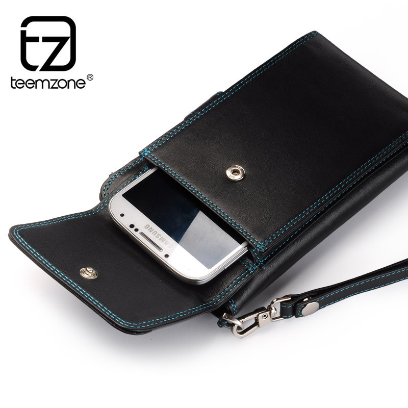 teemzone - (Cellphone Case + Credit Card Holder + Wallets) in one HOT EU Fashion Daily Man Clutch Bag Designer Wallets J50<br>