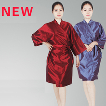 3 Colors Barber Salon Robe Cut Hair Apron Beauty Salon Cape SPA Salon Baking Oil Hair Kimono Bathrobe Sauna Sweat Steaming Cloth(China)
