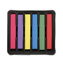 Portable 6 Colors/Box Hair Dying Chalk Pen Stick Dye Temporary Color Changing Non-toxic Hair Chalk Soft Pastels Kit Hair Crayons(China)