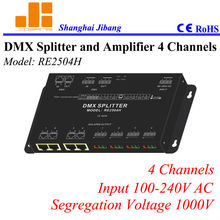 Free Shipping 4channels DMX signal splitter, one to four channel splitter,  ( other models 1 to 2, 1 to 8)   pn:RE2504H