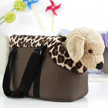 Leopard polka dots Portable Pet Dog Cat Travel Carrier Carry Bag Tote Luggage Bag Breathable Pet Dog Puppy Handbag Outdoor Bag