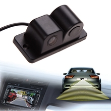 Universal 2 in 1 Car Parking Sensors Rear View Backup Camera High Clear Night Vision Reversing Radar Black Color High Quality(China)
