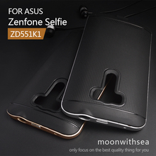 Case For Asus Zenfone Selfie ZD551KL (5.5inch) amazing 2 in 1 hybrid high quality PC+TPU material luxury mobile phone back cover(China)