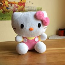 Free Shipping sitting height 25cm Hello kitty Plush Toys good quality pink Kitty Stuffed animals Plush Toys for girls/best gift(China)