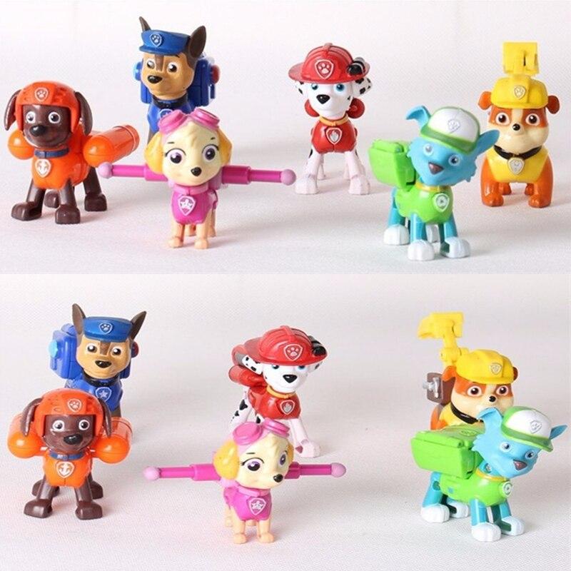 6pcs/set Patrol Puppy Dog Toy Childrens Anime Action Figure Toy Mini Figures Patrol Dog PVC Model Toys Patrulla Canina Juguetes<br><br>Aliexpress