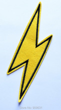 Yellow Thunder Flash Biker Band Rock Punk - JUSTICE LEAGUE PATCH - DC COMICS - Iron On Patch/TV, Movie,Cartoons
