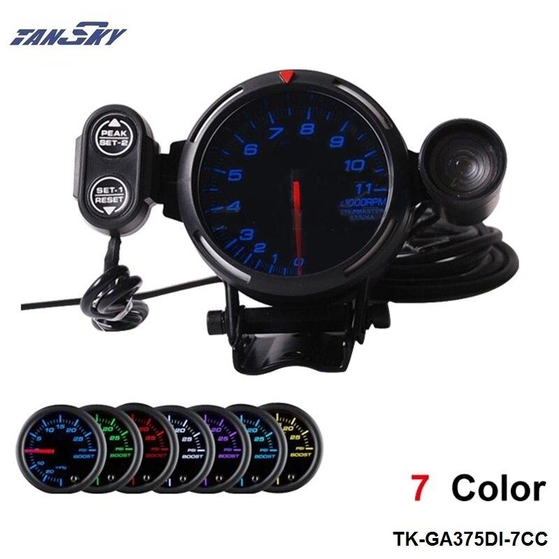 """TANSKY - 3.75"""" STEPPER MOTOR TACHOMETER For Jeep Wrangler 97-01 TK-GA375DI-7CC"""