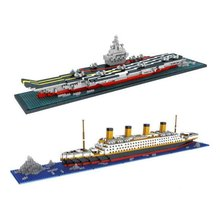 RMS Titanic liaoning Ship 3D Building Blocks Toy Titanic Boat 3D Model Educational Gift Toy for Children