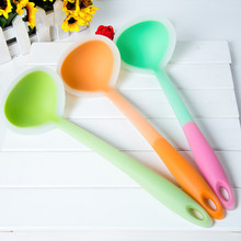 FDA Approved Silicone Kitchen Utensils Tools Non-stick Silicone Ladle BPA-free price for one piece