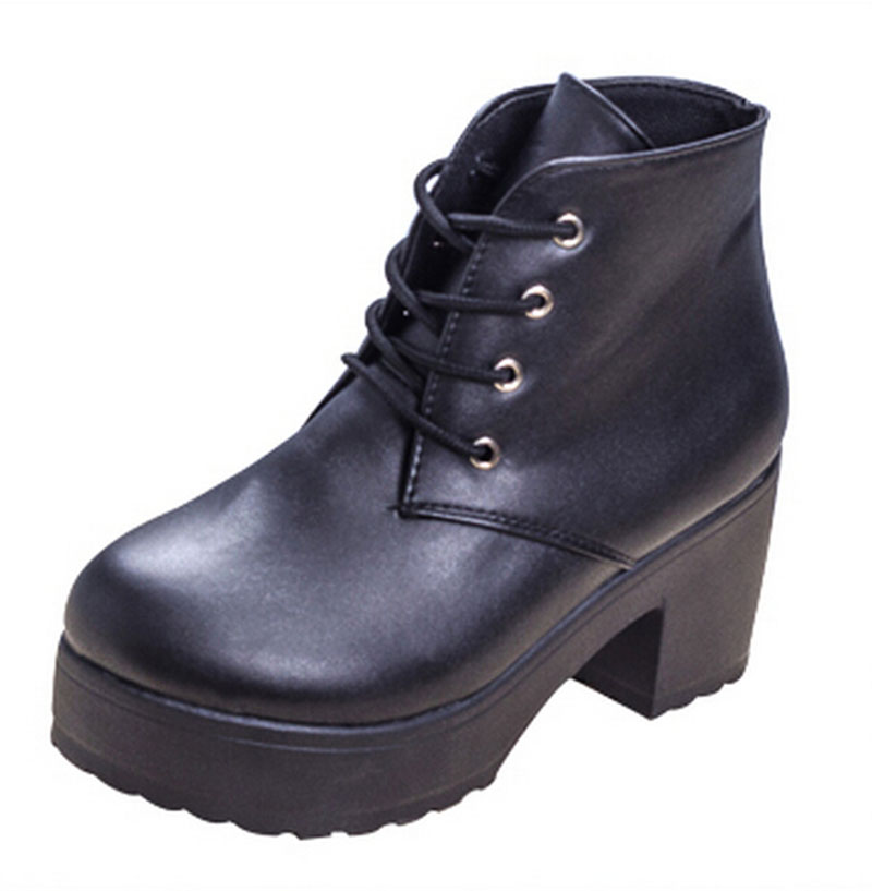 [classic]Black White Boots  New Special heavy-bottomed Muffin Boots Cross Straps Punk Thick With high-heeled Boots .DFGD-07B3<br><br>Aliexpress
