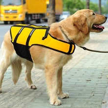Hot Selling Green/Yellow Dog Pet Swimwear Preserver Breathable Dog Life Jacket Puppy Life Vest Safety Clothes Size S-L