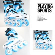 Unisex Multi Colors Professional Skating Shoes Single-row Roller Skates Shoes Adult Inline Universal Skating Rink(China)