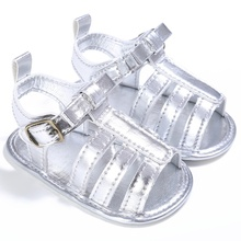 Fashion Baby Girls Boys Summer Breathable PU Hollow Out Anti-slip Flip Flop Newborn Shoes Sandal 0-18M