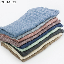 2016 Hot Sale New Winter Lady Cotton Linen Wraps High Quality Shawls Femme Soft Autumn Girls Linen Warm Solid Color Scarve J056